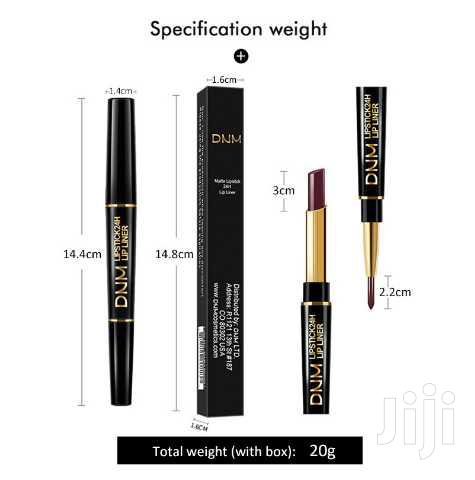 USA DNM Double Head Lipstick Pencil Water Proof and Long Lasting   Makeup for sale in Kampala, Central Region, Uganda