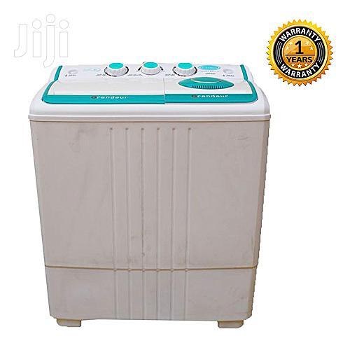 Venus VWP620 Semi Automatic Twin Tub Washing Machine White