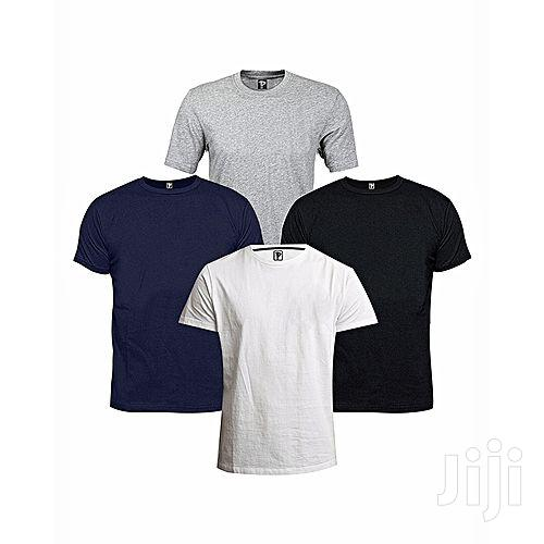 4 in 1 Pack of Men's Cotton T-Shirts - Multi-Color