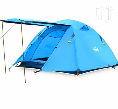 2 Sleeper Manual Camping Tents - Blue