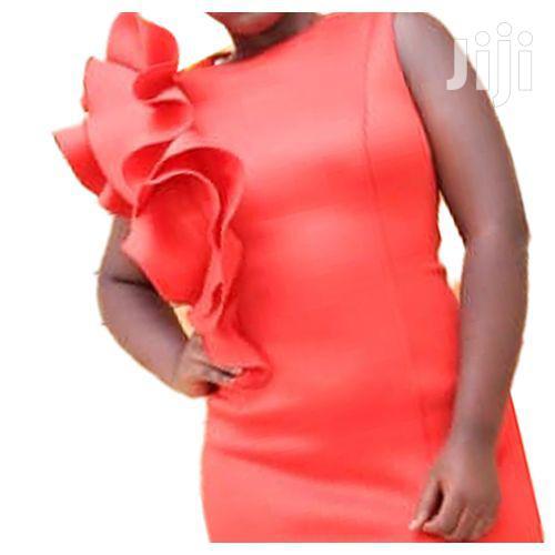 Side Slit Designer Changing Dress - Red