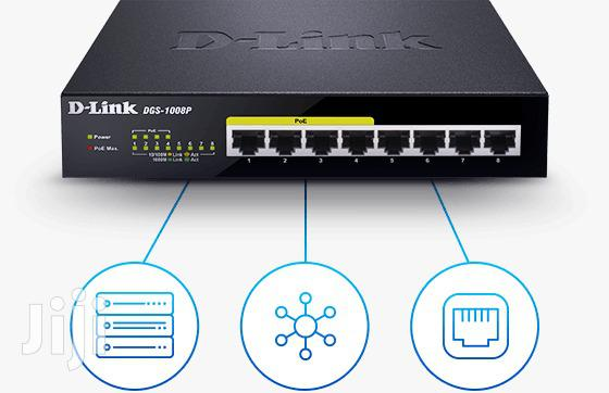 D-link Switch 8 Port 10/100/1000 Base T- Unmanaged Switch With 4 Poe
