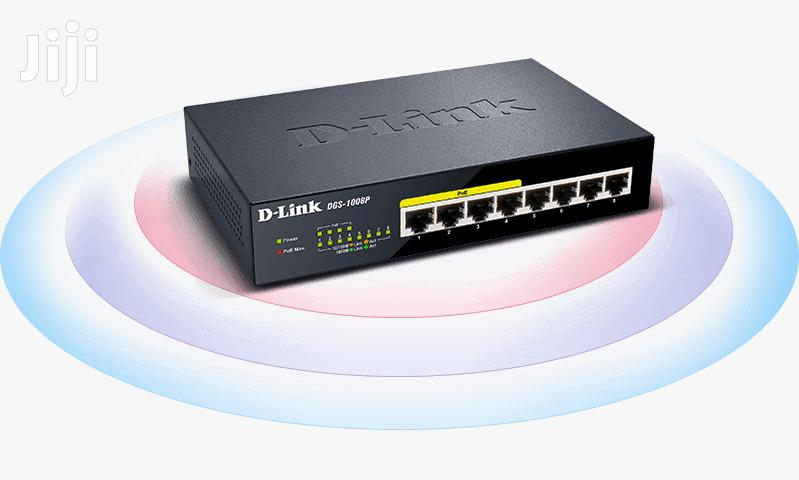D-link Switch 8 Port 10/100/1000 Base T- Unmanaged Switch With 4 Poe | Networking Products for sale in Kampala, Central Region, Uganda