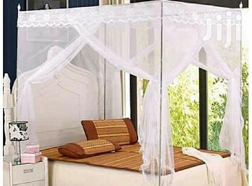 4*6 Flat Mosquito Net With 4 Metallic Stands - White   Home Accessories for sale in Kampala, Central Region, Uganda