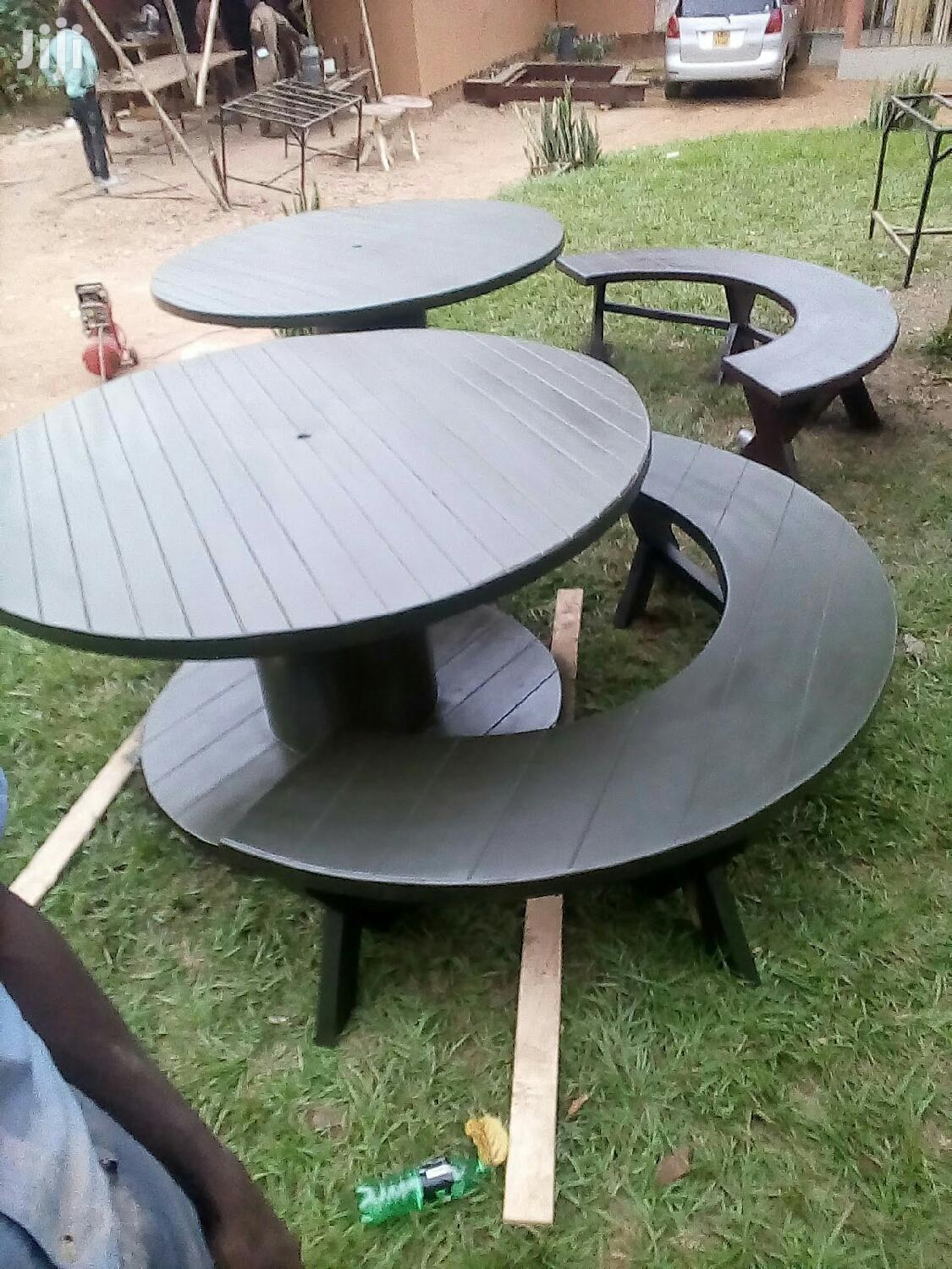 Round Table Plus Two Moon Benches | Building & Trades Services for sale in Kampala, Central Region, Uganda