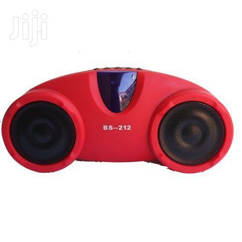 BS-212BT Rechargeable Hi-fi Portable Bluetooth Speaker - Red | Audio & Music Equipment for sale in Kampala, Central Region, Uganda
