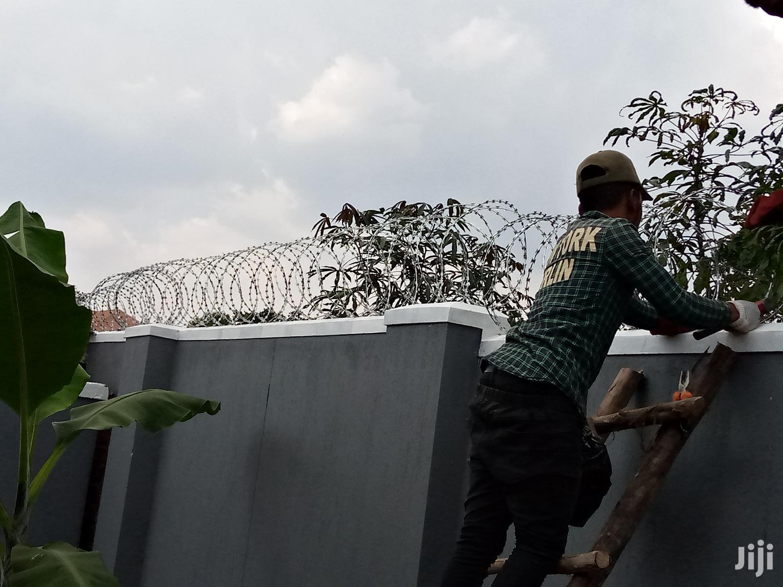 Plain Razor Wire Fence
