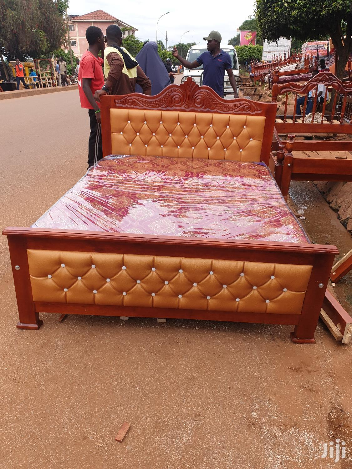 Simple Bed 5by6   Furniture for sale in Kampala, Central Region, Uganda