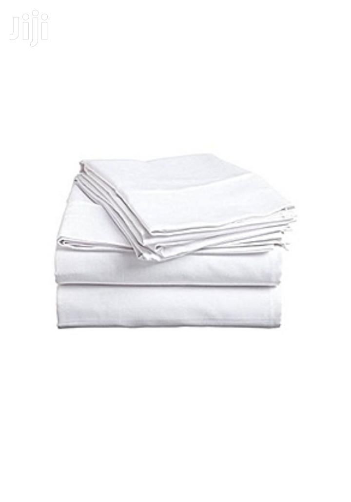 Brand New White Cotton Bed Sheets With a Pair of Pillows