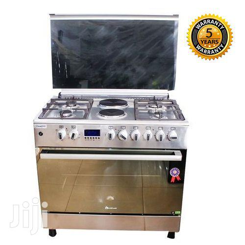 BLUEFLAME 4 Gas 2 Electric Cooker Plus Oven E9042fer- NOX -