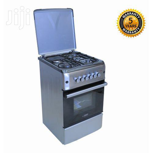 Blueflame Cooker 50x55cm 3 Gas + 1 Electric Gas Oven - Stainless