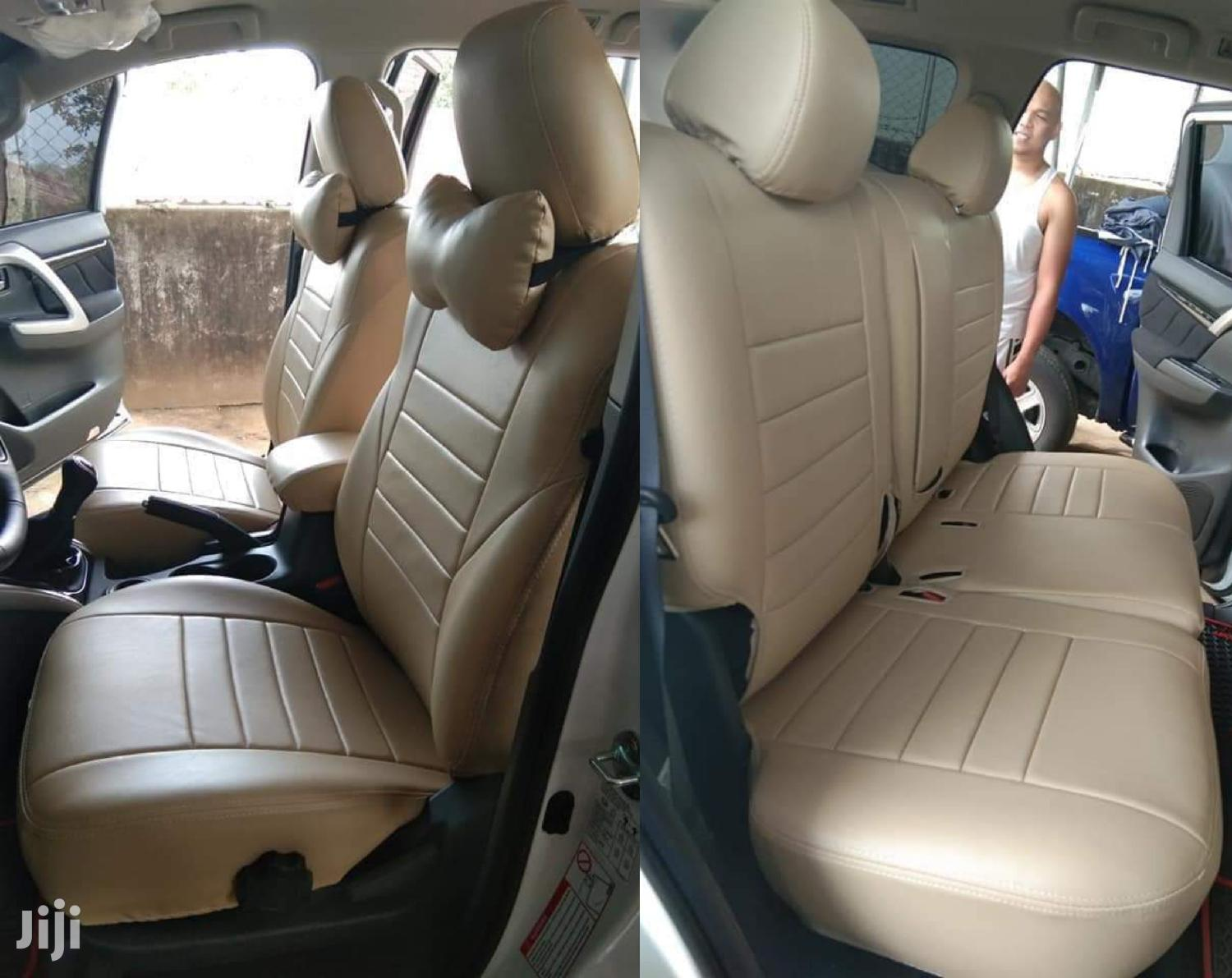 Cream Pure Leather Seat Covers