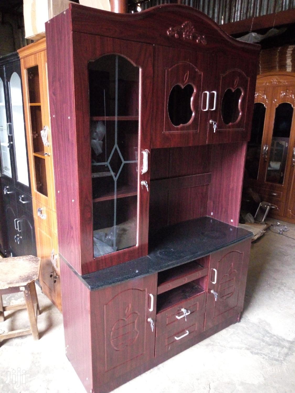 Kitchen Cabinet Maroon Colour