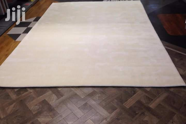 Modern White Plain Shaggy