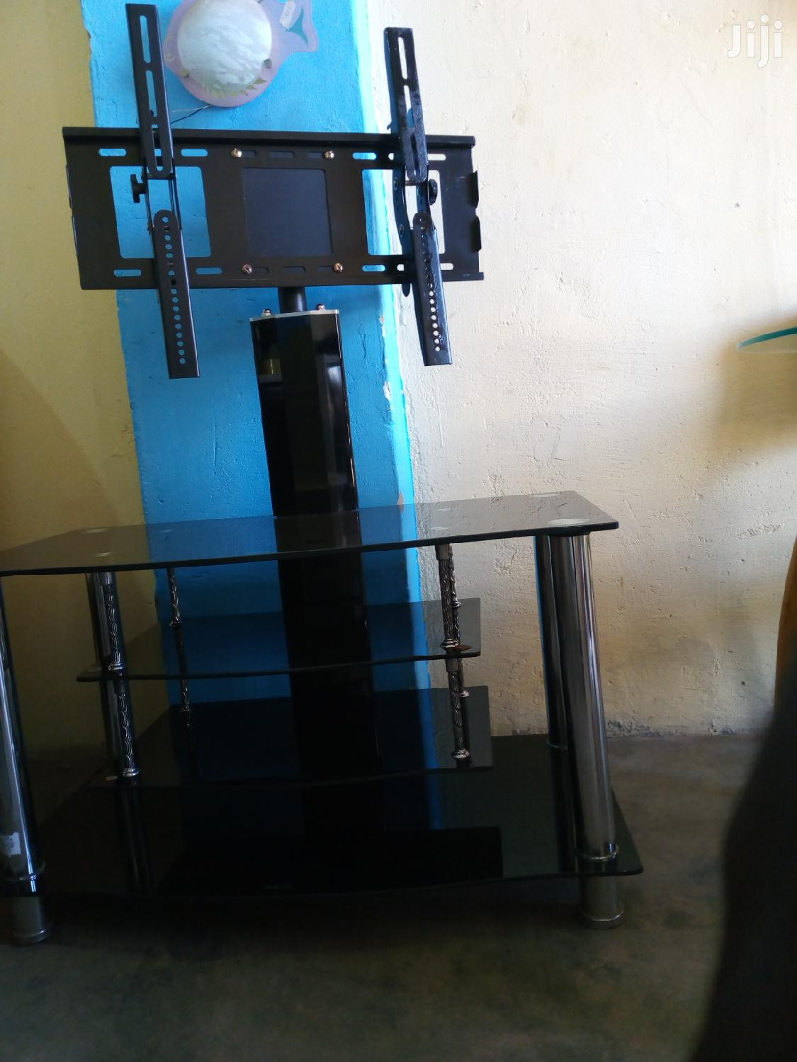 TV Stand With Tempered Glass