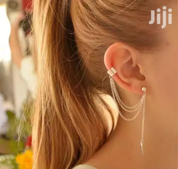 Archive: Silver Stainless Stylish Layered Earrings