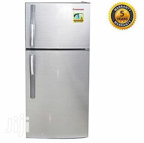 Changhong CD-155 - Silver Double Door Refrigerator - 155L Fridge | Kitchen Appliances for sale in Kampala, Central Region, Uganda
