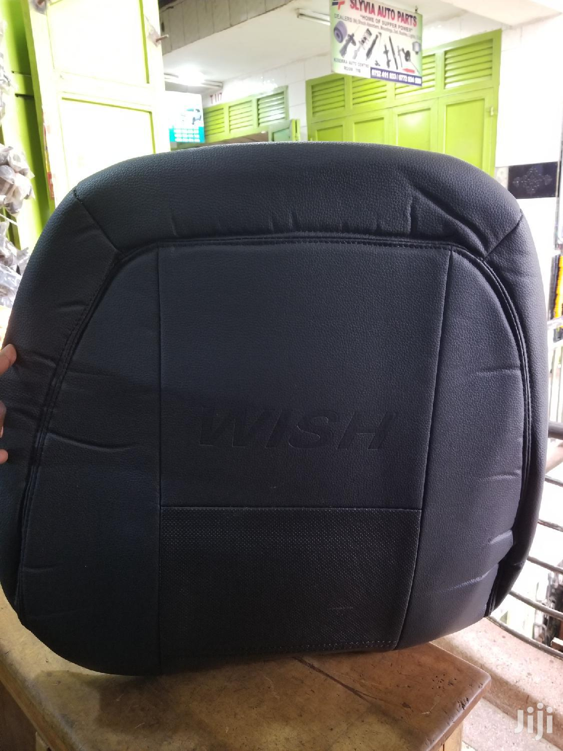 Black Seat Cover For Toyota Wish