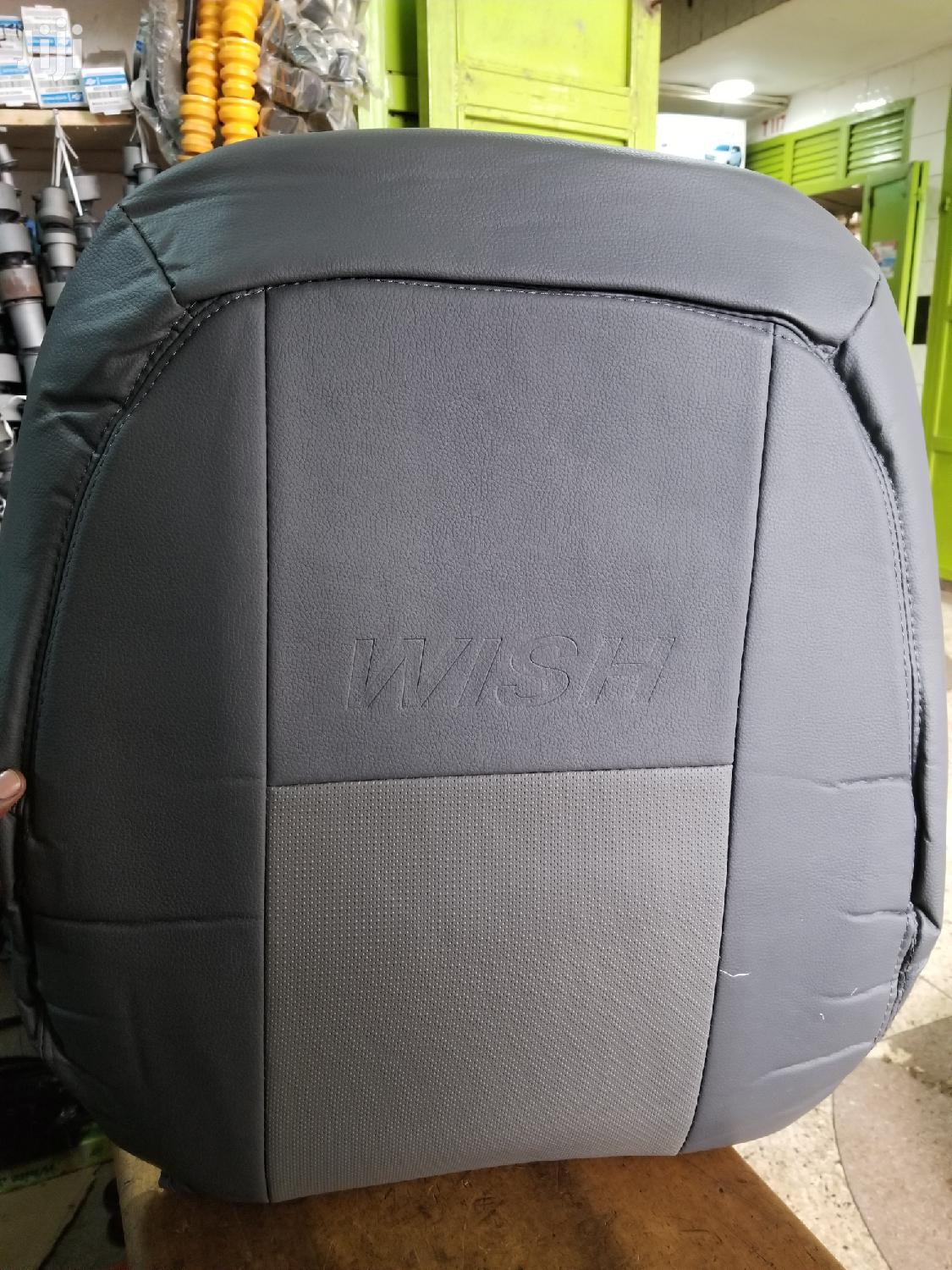 Gray Seat Covers For Toyota Wish