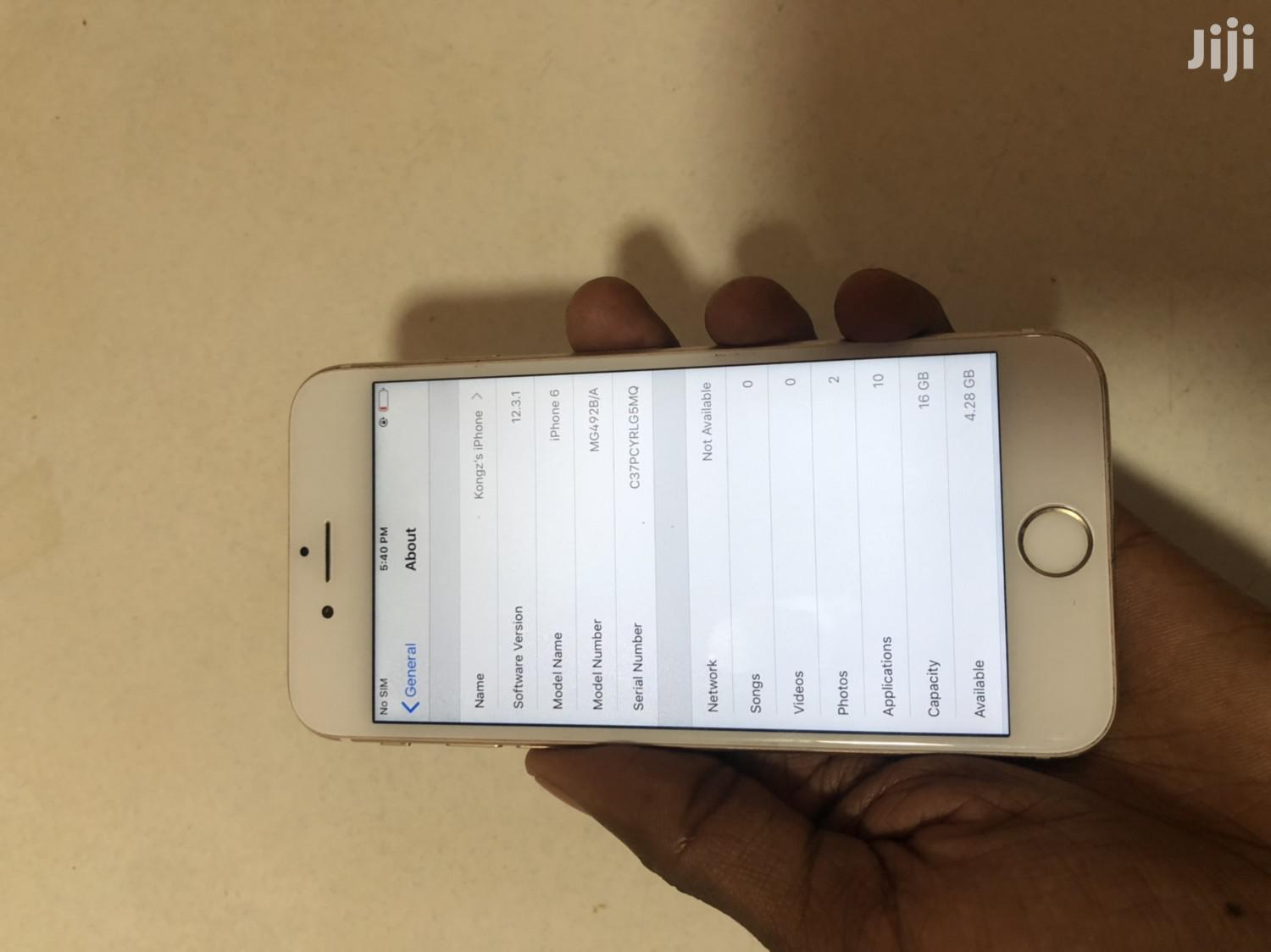 Apple iPhone 6 16 GB Gold | Mobile Phones for sale in Kampala, Central Region, Uganda