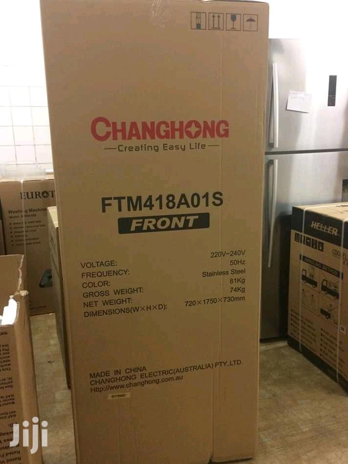 Changhong CD-220 - Double Door Refrigerator - 220L Fridge - Silver