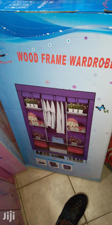 Modern Wood Frame Wardrobe
