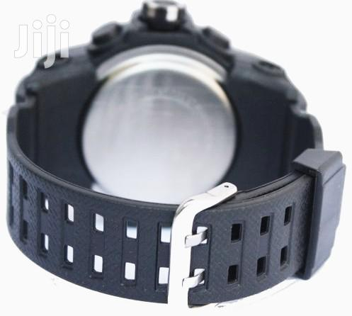 Archive: Water Proof Men's Digital and Analog Watch - Black White
