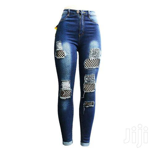 Women's Damage Design Long Waist Jeans