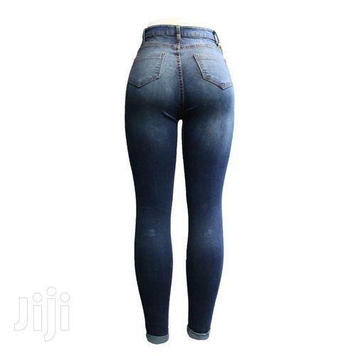 Women's Damage Design Long Waist Jeans | Clothing for sale in Kampala, Central Region, Uganda