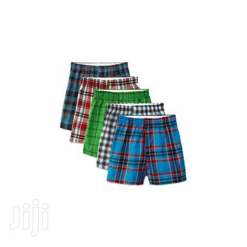 5 Pcs Men's Checkered Boxers Multi Colours