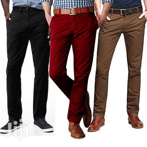 3 Pack of Khaki Men's Trousers Marron Black | Clothing for sale in Kampala, Central Region, Uganda