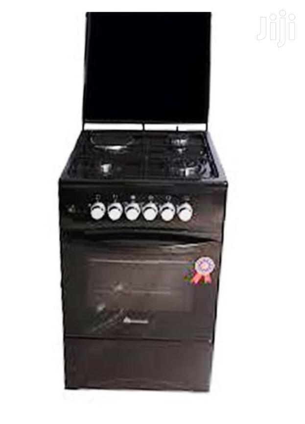 3 Gas + 1 Electric Plate Gas Cooker & Oven 50*50cm - Black | Kitchen Appliances for sale in Kampala, Central Region, Uganda