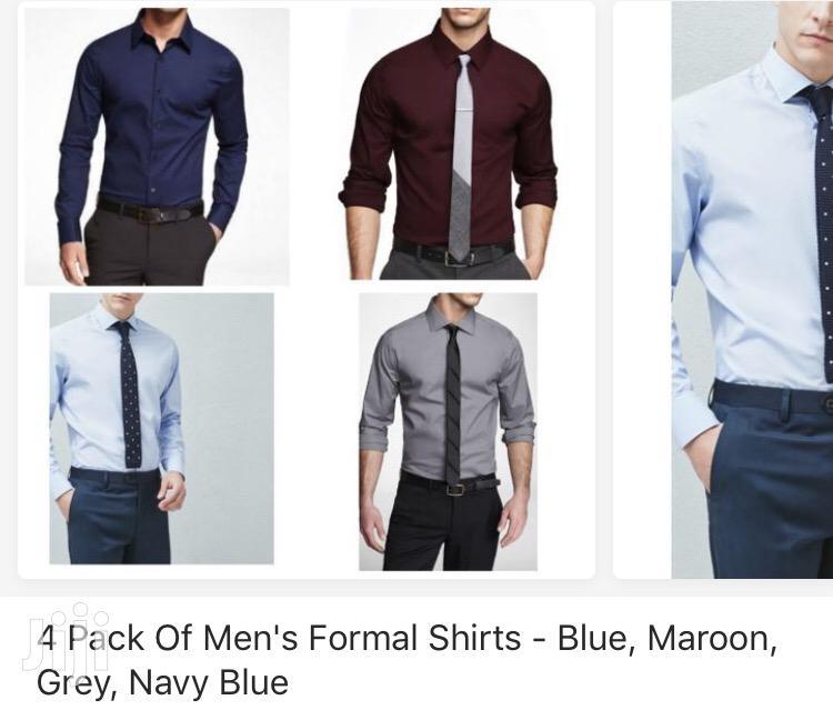 Pack of 4 Formal Men'S Shirts