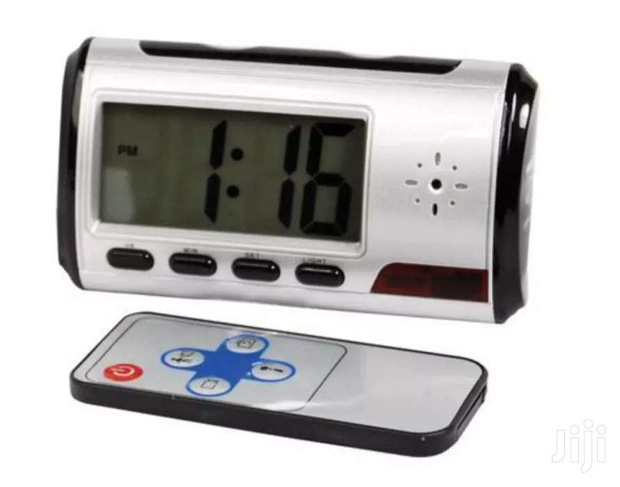 Digital Clock Spy Camera For Sale Its Uses Memory Card To Store Footag
