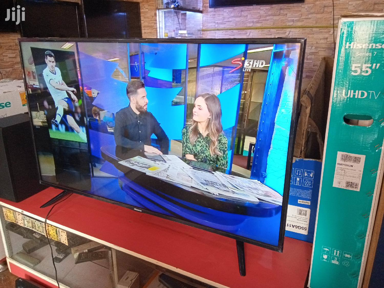 "Hisense 55"" Smart 4K UHD Ultra Slim Flat LED Tvs. Brand New"