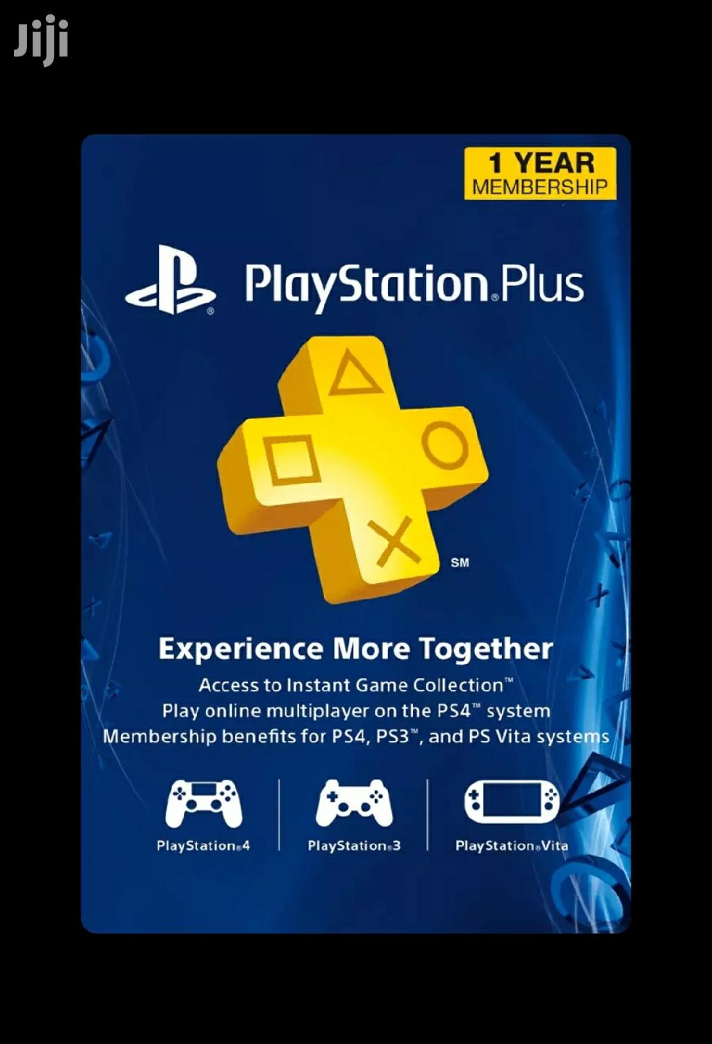 1 Year Playstation Plus Subscription | Video Games for sale in Kampala, Central Region, Uganda
