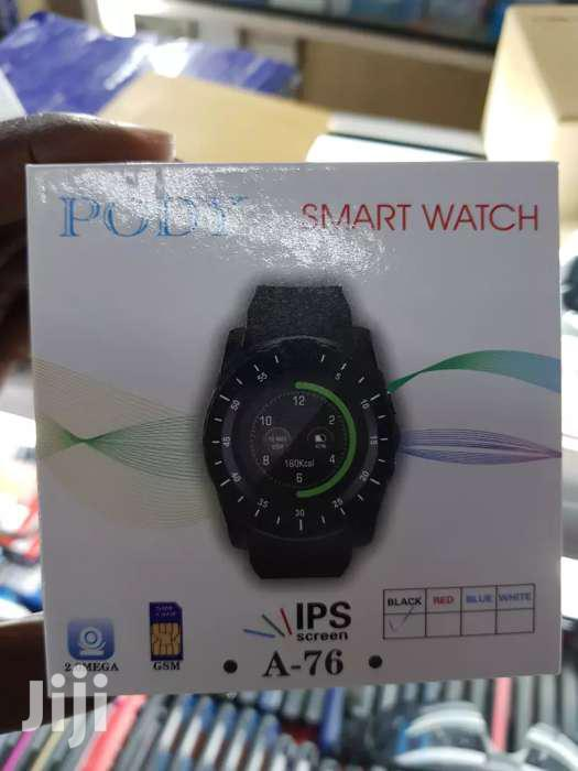2019 Bluetooth Smartwatch / Smartphone Watch With Touch Screen | Smart Watches & Trackers for sale in Kampala, Central Region, Uganda