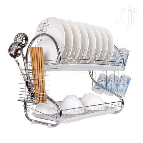 Archive: Dish Rack Drainer for Urensils Cutlery- Silver