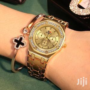 Ladies Vintage Quartz Bracelet Watch - Gold | Watches for sale in Central Region, Kampala