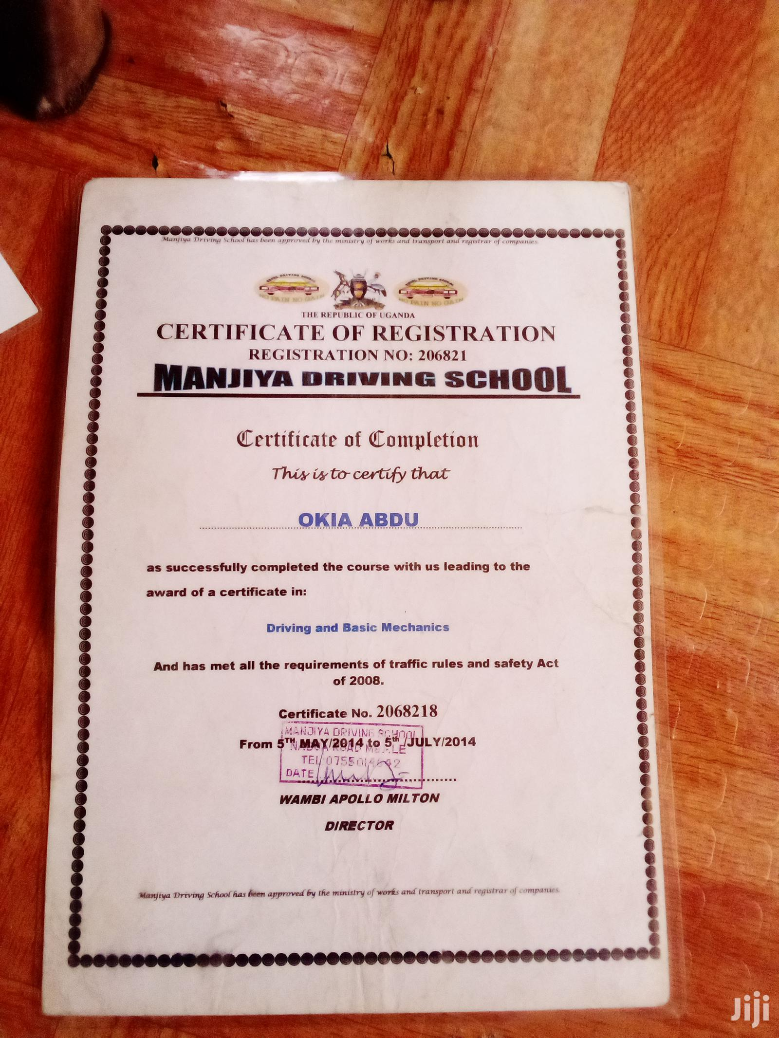 Driver For Both Maneul And Outomotic Very Perfect For A Drive | Driver CVs for sale in Kampala, Central Region, Uganda