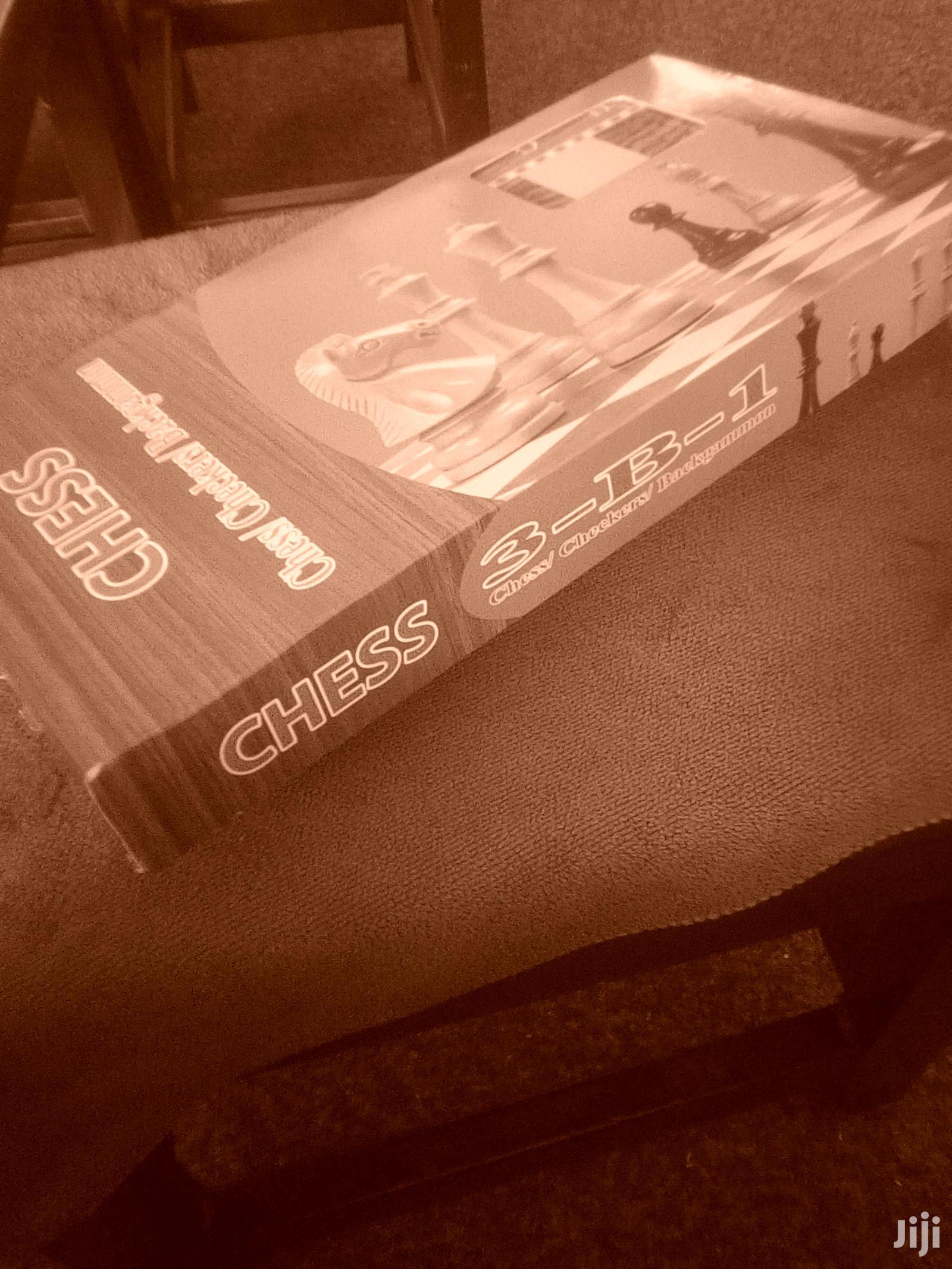 Chess Checkers Backgammon Set 3 In 1 | Books & Games for sale in Mbarara, Western Region, Uganda
