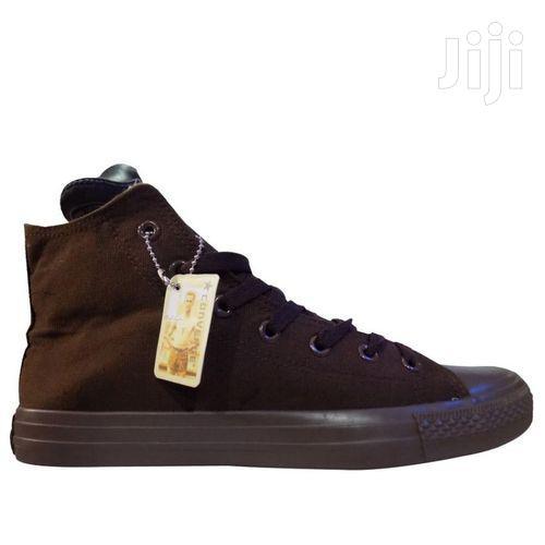 Men High Top Sneakers Brown