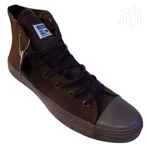 Men High Top Sneakers Brown   Shoes for sale in Kampala, Central Region, Uganda