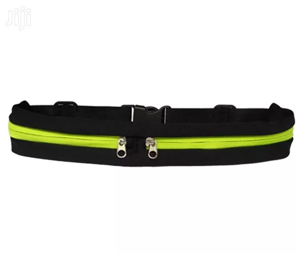 Sport Elastic Double Pockets Belt Waterproof Waist Bag