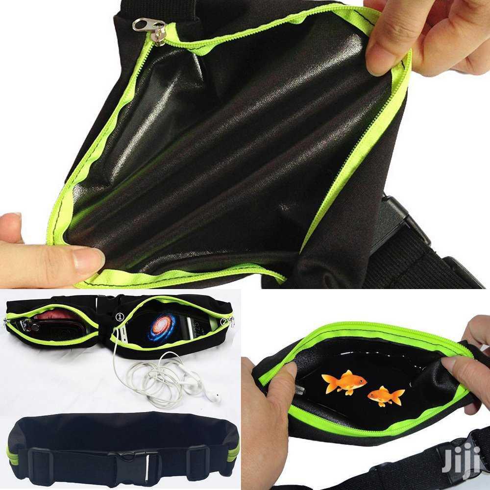 Sport Elastic Double Pockets Belt Waterproof Waist Bag | Bags for sale in Kampala, Central Region, Uganda