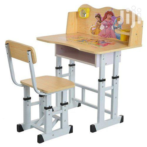 Kids & Children Study Tables Desk With Chair + Alarm Clock Set