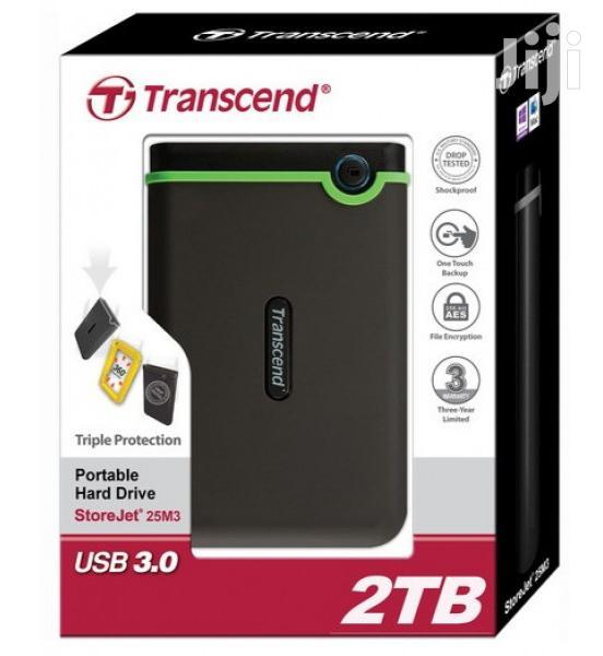 Authentic Transcend External Hard Drive 3.0 2TB Shockproof | Computer Hardware for sale in Kampala, Central Region, Uganda