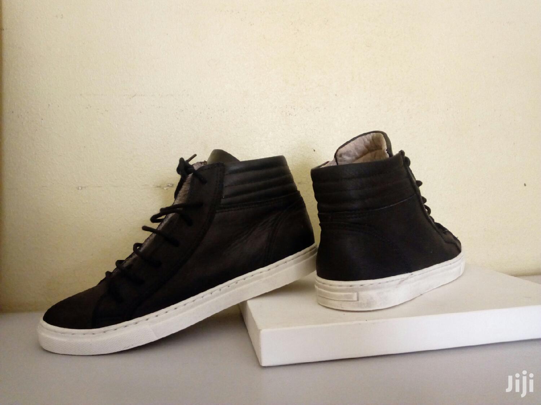 Black White Leather Size 34