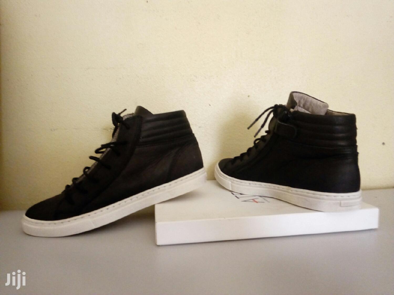 Black White Leather Size 34 | Children's Shoes for sale in Kampala, Central Region, Uganda