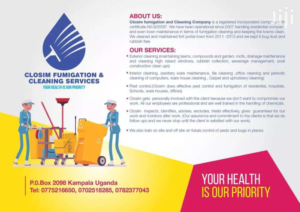 Fumigation And Cleaning Services | Cleaning Services for sale in Kampala, Central Region, Uganda